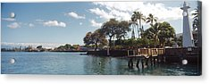 Lighthouse At A Pier, Lahaina, Maui Acrylic Print by Panoramic Images