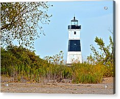 Lighthouse At The Dune Acrylic Print by Frozen in Time Fine Art Photography