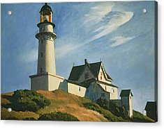 Lighthouse At Two Lights Acrylic Print by Edward Hopper