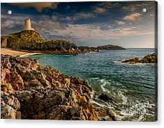 Lighthouse Bay Acrylic Print by Adrian Evans