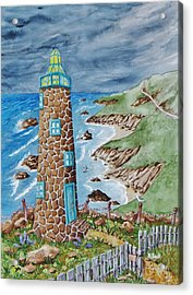 Lighthouse Acrylic Print by Katherine Young-Beck