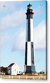 Lighthouse Living - New Cape Henry Lighthouse Acrylic Print by Gregory Ballos