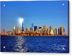 Lighthouse Manhattan Acrylic Print by Olivier Le Queinec