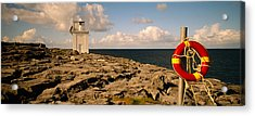 Lighthouse On A Landscape, Blackhead Acrylic Print by Panoramic Images
