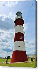 Lighthouse On The Hoe Acrylic Print by Theresa Selley