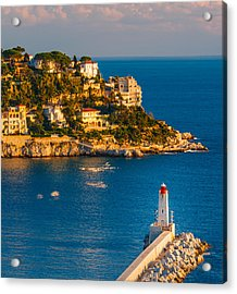 Lighthouse On The Riviera Acrylic Print by Sarit Sotangkur