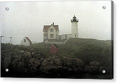 Lighthouse - Photo Watercolor Acrylic Print by Frank Romeo
