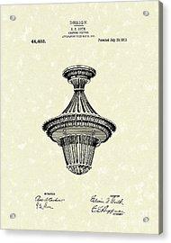 Lighting Fixture 1914 Patent Art Acrylic Print by Prior Art Design