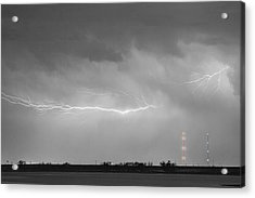 Lightning Bolting Across The Sky Bwsc Acrylic Print by James BO  Insogna
