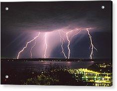 Lightning Acrylic Print by King Wu