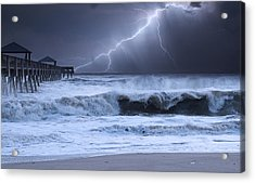 Lightning Strike Acrylic Print by Laura Fasulo