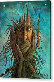 Lightninghead Acrylic Print by Frank Robert Dixon