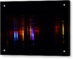 Lights On The River Reflection Acrylic Print by Susan Garren