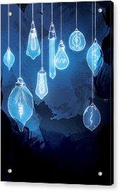 Lights Acrylic Print by Randoms Print