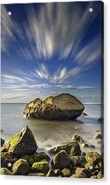 Like A Rock Acrylic Print by Rick Berk
