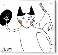 Lil Dab Acrylic Print by Anita Dale Livaditis