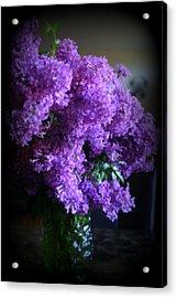 Lilac Bouquet Acrylic Print by Kay Novy