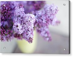 Lilacs In A Vase Acrylic Print by Rebecca Cozart