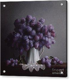 Lilacs Study No.2 Acrylic Print by Larry Preston