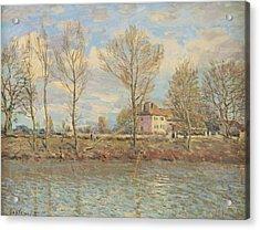 Ile De La Grande Jatte, Neuilly Sur Seine Acrylic Print by Alfred Sisley