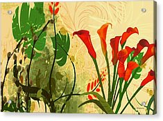 Lilies In The Park Acrylic Print by Madeline  Allen - SmudgeArt