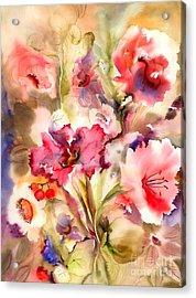 Lilies Acrylic Print by Neela Pushparaj