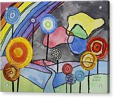 Lollipops And Rainbow  Acrylic Print by Ethan Altshuler