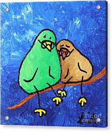 Limb Birds - Lasting Love Acrylic Print by Linda Eversole