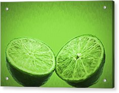 Lime Food Painted Digitally 2 Acrylic Print by David Haskett