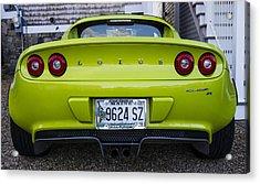 Lime Green Lotus Acrylic Print by Steven Ralser