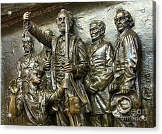 Lincoln Arming The Freed Slaves Acrylic Print by David Bearden