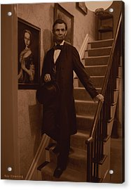 Lincoln Descending Staircase Acrylic Print by Ray Downing