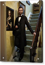 Lincoln Descending Stairs 2 Acrylic Print by Ray Downing