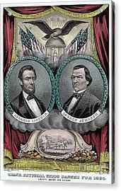 Lincoln Johnson Campaign Poster Acrylic Print by Marvin Blaine
