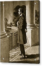 Lincoln Looks Out From The White House Acrylic Print by American School