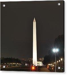Lincoln Memorial And Washington Monument - Washington Dc - 01132 Acrylic Print by DC Photographer