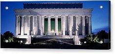 Lincoln Memorial At Dusk, Washington Acrylic Print by Panoramic Images