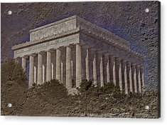 Lincoln Memorial Acrylic Print by Skip Willits