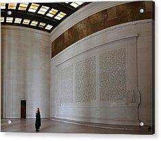 Lincoln Memorial - Washington Dc - 01132 Acrylic Print by DC Photographer