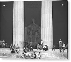 Lincoln Memorial - Washington Dc Acrylic Print by Mike McGlothlen