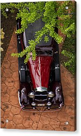 Lincoln Town Car Acrylic Print by Thomas Woolworth