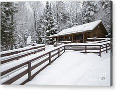 Lincoln Woods Ranger Headquarters - Lincoln New Hampshire Usa Acrylic Print by Erin Paul Donovan
