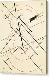 Linear Composition Acrylic Print by Lyubov Sergeevna Popova