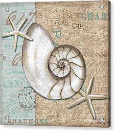 Linen Shells IIi Acrylic Print by Paul Brent