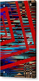 Lines And Design Acrylic Print by Mario Perez