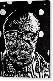 Lino Cut Charlie Spear Acrylic Print by Charlie Spear