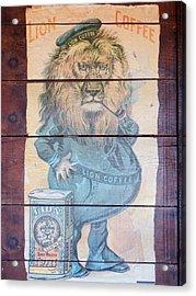 Lion Coffee Acrylic Print by Susan Ince