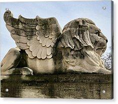 Lion With Wings Acrylic Print by Patricia Januszkiewicz