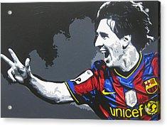 Lionel Messi - Barcelona Fc 3 Acrylic Print by Geo Thomson