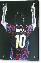 Lionel Messi - Barcelona Fc Acrylic Print by Geo Thomson